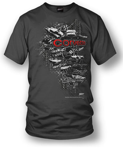 Corvette Shirt - Emblems - Corvette Emblems t-shirt - $19.99 - Wicked Metal - Wicked Metal
