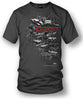 Image of Corvette Shirt - Emblems - Corvette Emblems t-shirt - $19.99 - Wicked Metal - Wicked Metal