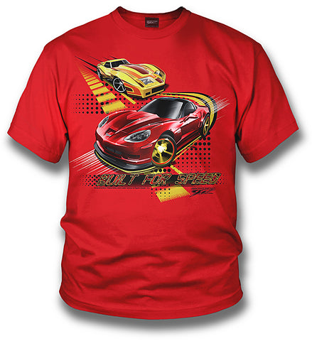 Image of Corvette Kids Shirt - Corvette C6 - Built for Speed - Wicked Metal
