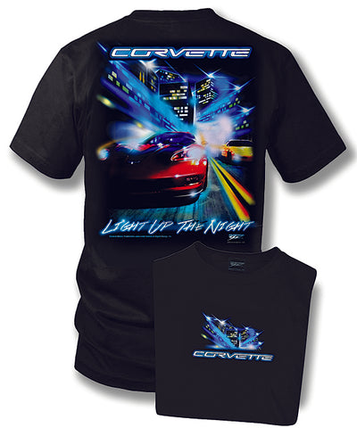 Image of Corvette shirt - Corvette c5, C6 - Light up the night - Wicked Metal