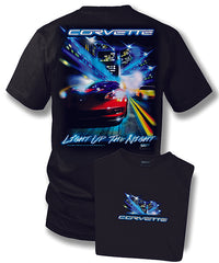 Corvette shirt - Corvette c5, C6 - Light up the night- $19.99