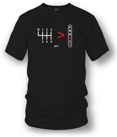 Stick Shift, Straight Drive is greater than automatic t-shirt - Wicked - Wicked Metal