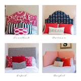 Tall Dorm Headboard, Twin Headboard, Linen Fabrics, Dorm Room Headboard