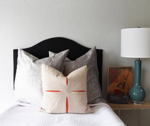 Ready to Ship! Low-Profile Black Linen Dorm Headboard, Camelback, Twin Headboard