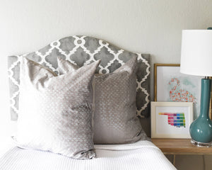Ready to Ship! Madrid Grey Dorm Headboard, Twin Headboard, Dorm Room Decor, Dorm Decorations, Bedroom Decor, Boho Decor, Camelback Shape