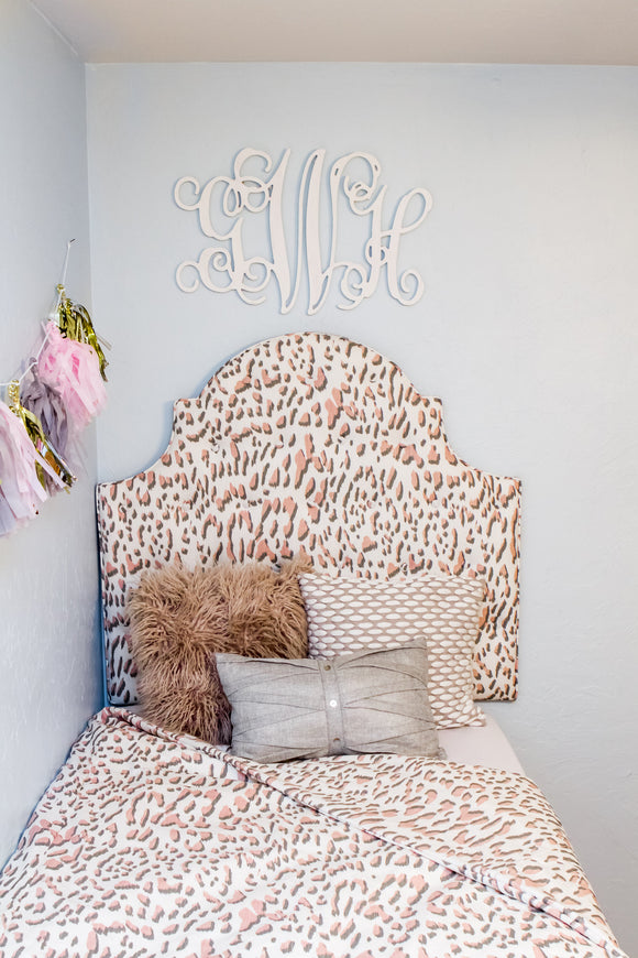 Extra Tall Tufted Dorm Headboard, Twin Headboard, Blush Fabric with Tufts, Dorm Room Headboard, Dorm Decor, Graduation Gift, Bedroom Decor
