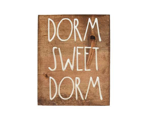 Dorm Sweet Dorm Wall Decor, Dorm Decor, Wall Decor, Farmhouse Decor, Boho Decor, Wood Sign, Gallery Wall, Sorority Decor, Greek Life, Dorm