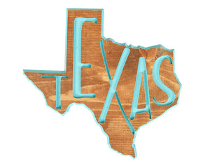 Texas State Sign, Wood Sign, Texas Carved Sign, Texas Home Decor