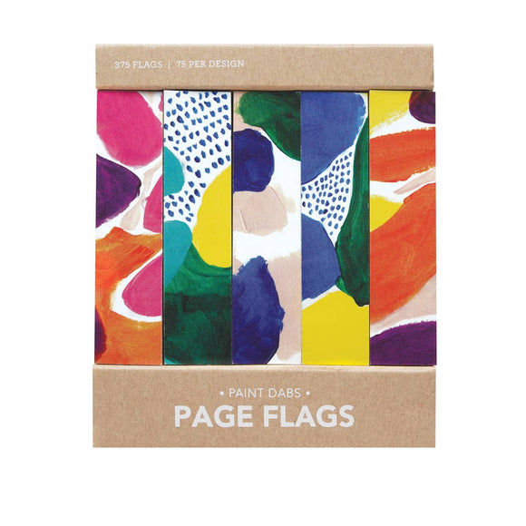 Painterly page flags