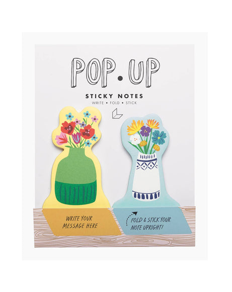 Floral pop-up sticky notes