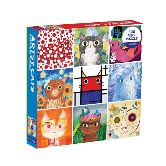 Artsy Cats 500-piece Family Puzzle