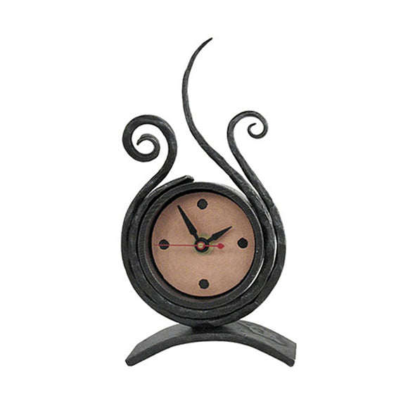 Ironwork Scroll Desk Clock