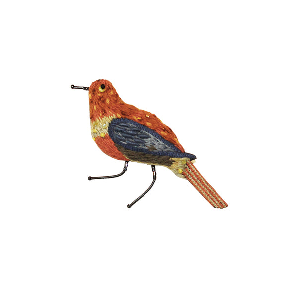 Barnes Bird embroidered pin