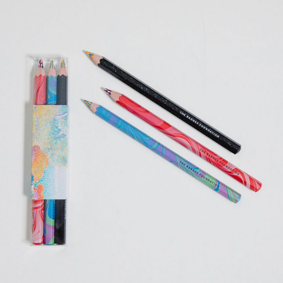 Pointillist magic pencil trio