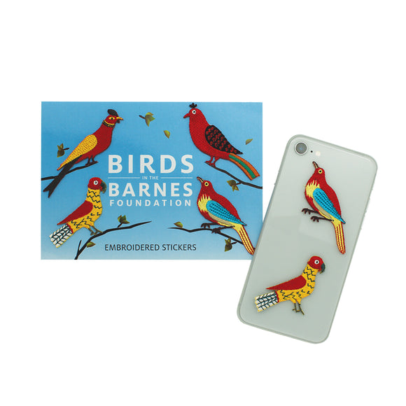 Birds in the Barnes sticker patches