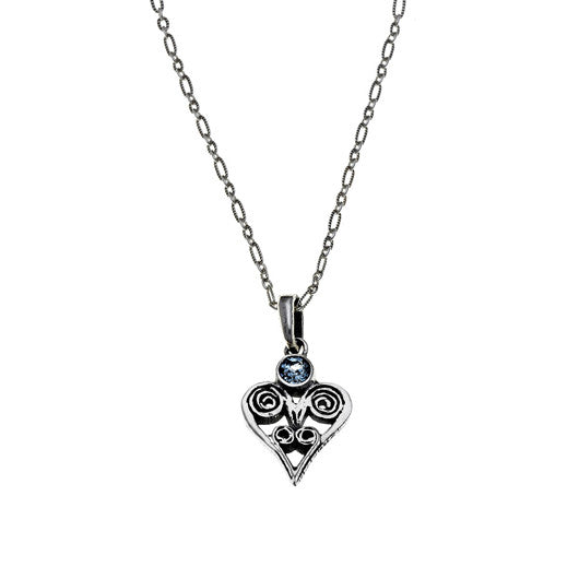 Barnes Foundation Metalwork-inspired Birthstone Heart Charm