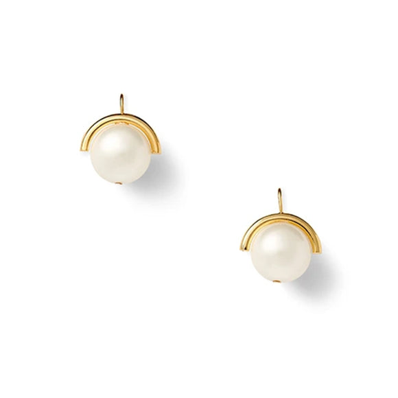 Sphere Pebble Pearl drop earrings