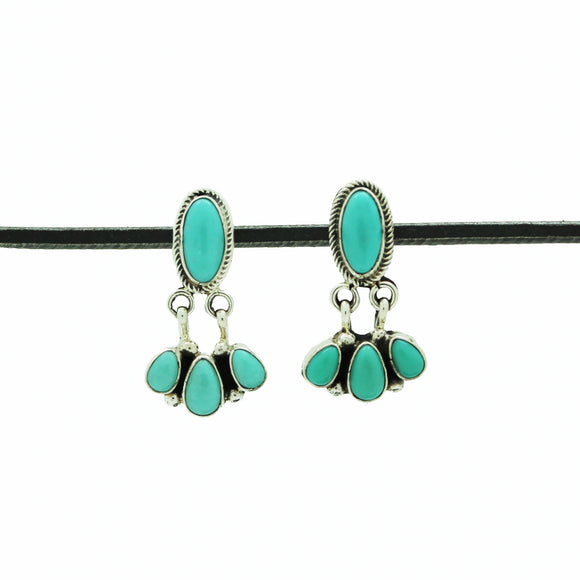 Navajo Pale Turquoise Drop Earring
