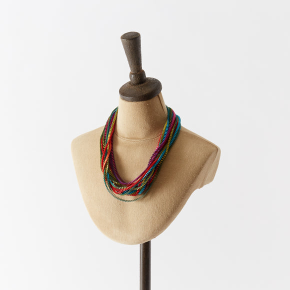 Pleated Fabric Necklaces