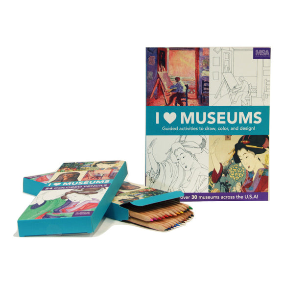 I ❤ Museums Activity Book: Guided Activities to Draw, Color and Design!