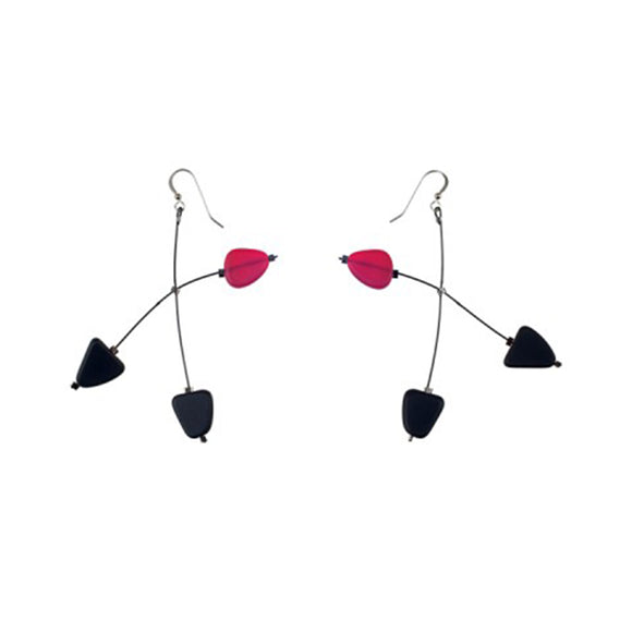 Matte Glass Mobile earrings