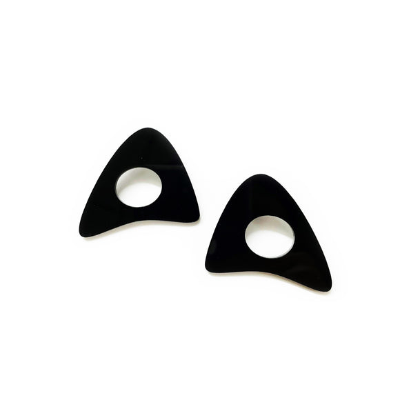 Takara Modern Art earrings, black