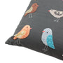 Knotty Birds embroidered pillow