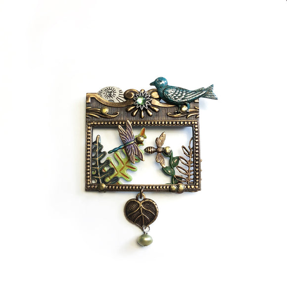 Fancy Bird brooch