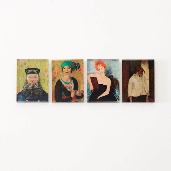 Barnes Foundation Portraits Mini Magnet Set of 4