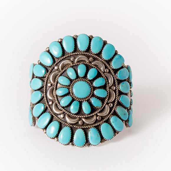 Navajo Turquoise and Silver Cuff Bracelet