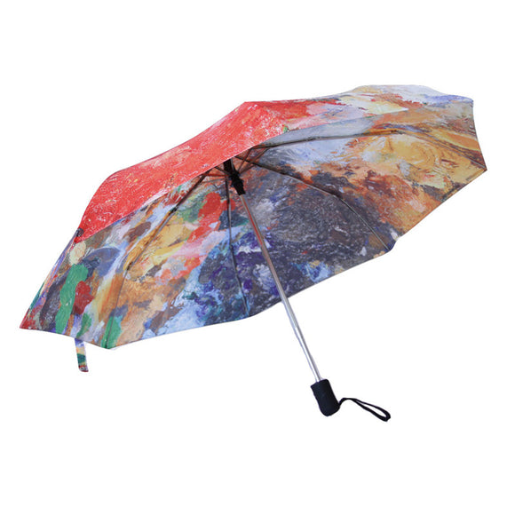 Painter's Palette Travel Umbrella