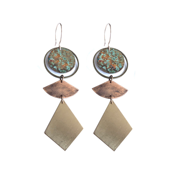 Durango patina earrings