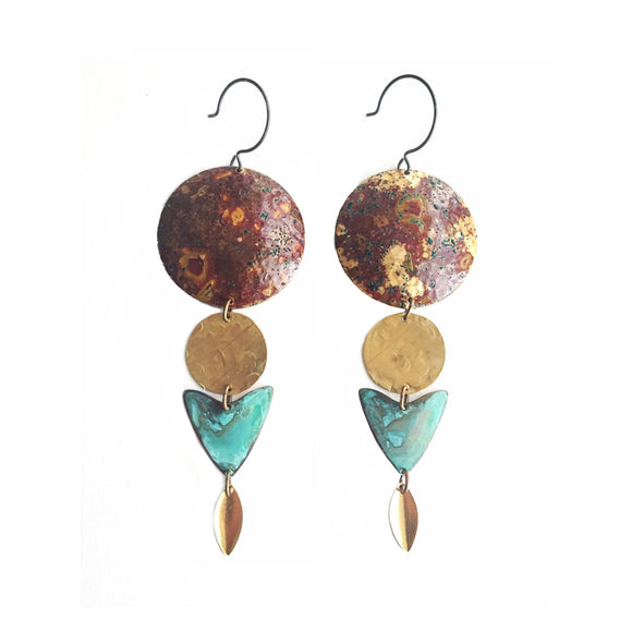 Elements patina earring