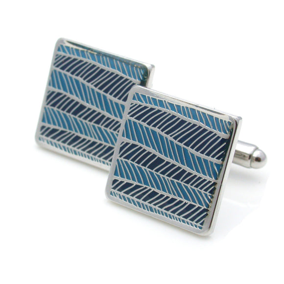Barnes Cuff Links, Herringbone Pattern