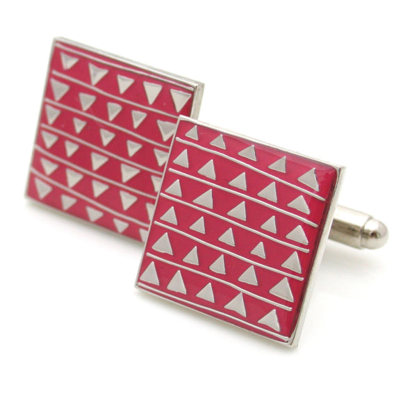 Barnes Cuff Links, Triangles Pattern