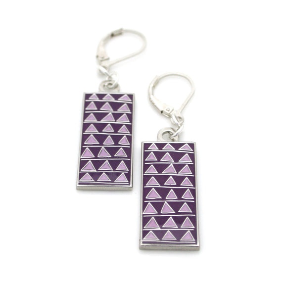 Barnes Earrings, Triangles Pattern
