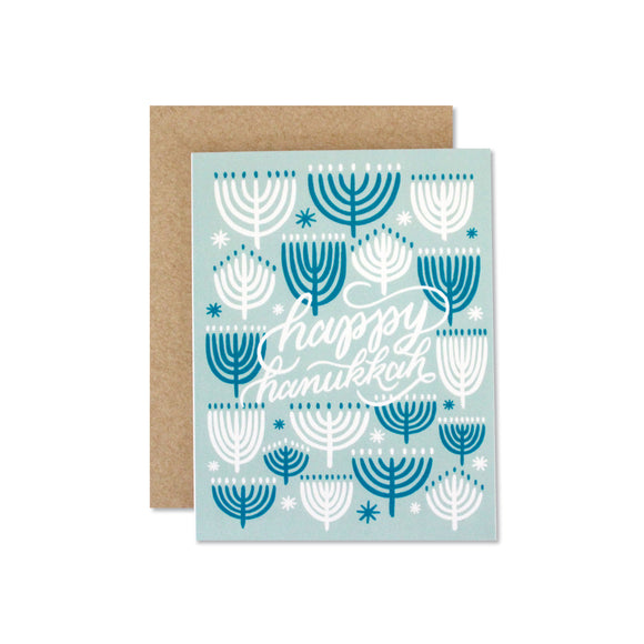 Happy Hanukkah boxed note cards, set of 6