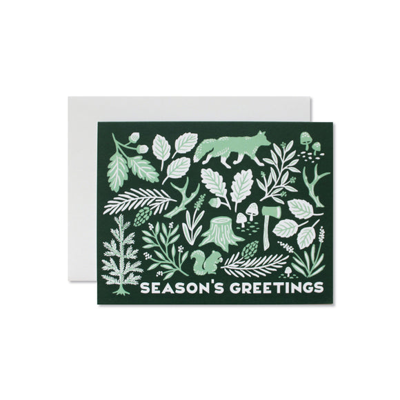 Woodland Holiday boxed note cards, set of 6