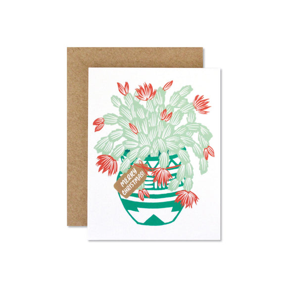 Christmas Cactus note card