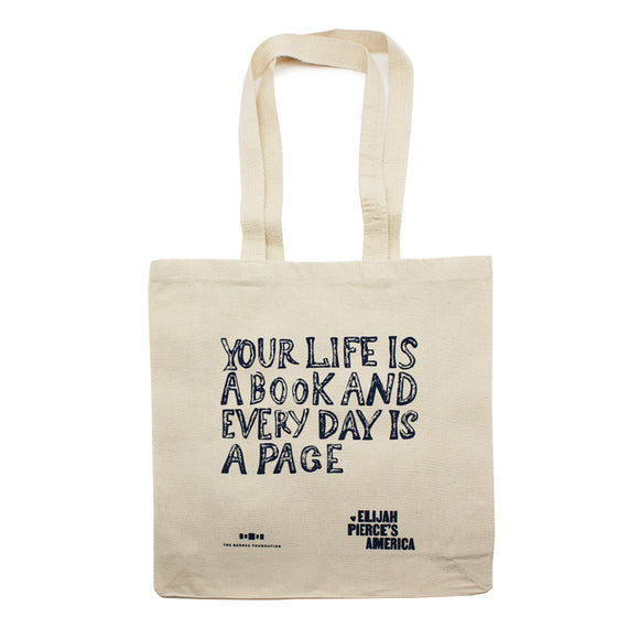 Elijah Pierce: Your Life is a Book tote