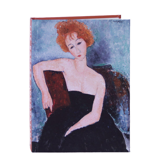 Modigliani's Redheaded Girl in Evening Dress Lined Notebook