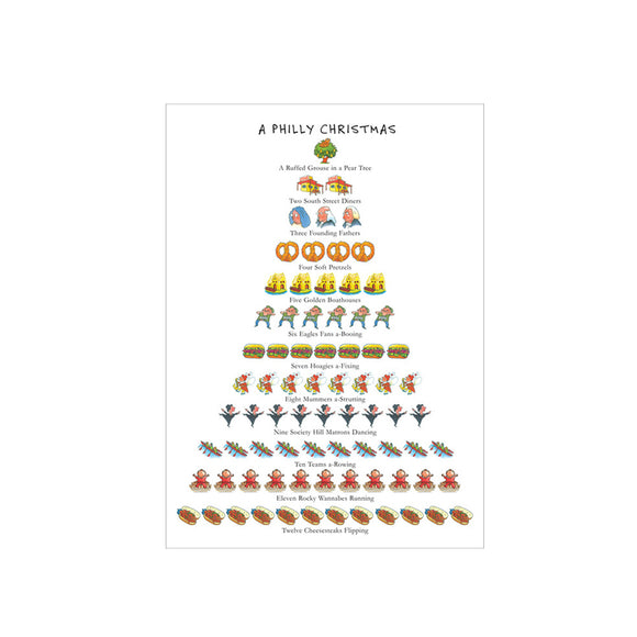 A Philly Christmas boxed note cards, set of 8