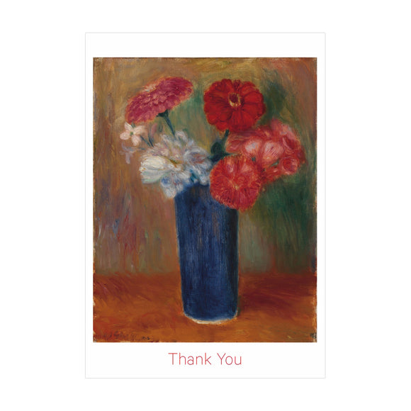 "Glackens ""Flowers in a Blue Vase"" Thank You Notecards"