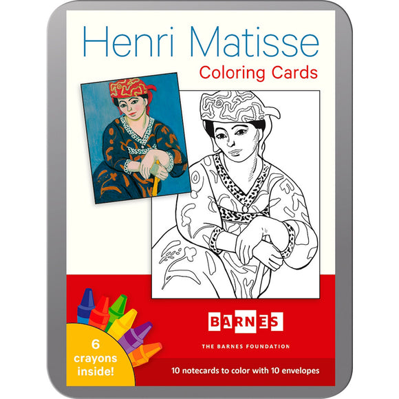 Henri Matisse Coloring Card Set