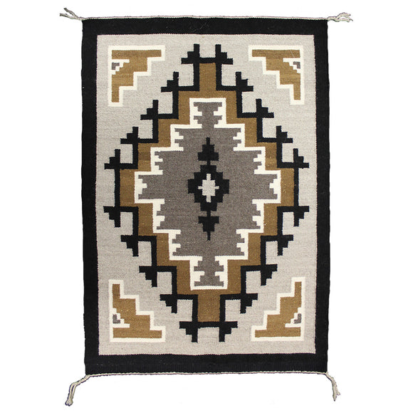 """Two Grey Hills"" Navajo Weaving, by Zerena Begay"