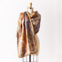 Silk and Wool Felted Wrap, Ochre