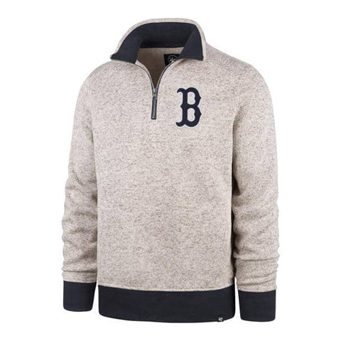 Gray 1/4 Zip Pullover Sweater
