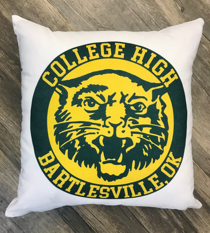 College High Wildcats Pillow