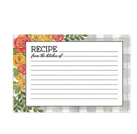 Floral Recipe Refill Cards ( 36 )