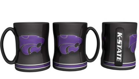 Kansas State Wildcats sculpted Relief Mug 14oz.